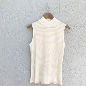 Dana Buchanan sleeveless top shimmer cream size m